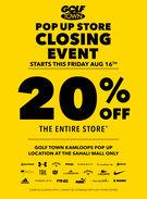 Golf Town Kamloops Pop Up Store Closing