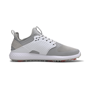 PUMA: Men's Ignite PWRAdapt Caged Spiked Golf Shoe - White/Grey