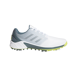 ADIDAS: Men's ZG 21 Spiked Golf Shoe - White/Grey/Yellow